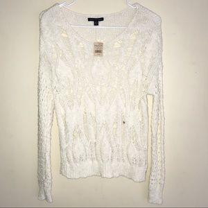 AE Knit Cream Sweater NWT